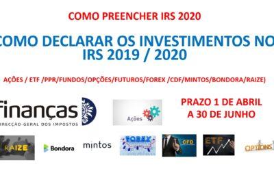 COMO DECLARAR IRS 2020